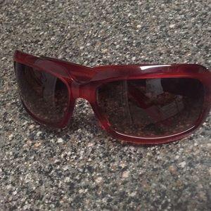 Barton Perreira ombré sunglasses red frames GUC